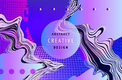 Vector abtract liquid background, fluid poster, cover. creative template, card. Geometric 3d design, vector illustration