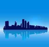 Vector Abu Dhabi silhouette skyline Stock Images