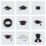 Vector academic icon set Stock Image