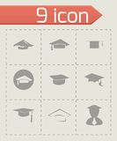 Vector academic icon set Royalty Free Stock Images