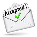 Vector accepted envelope icon Stock Photo