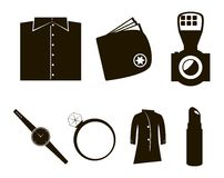 Vector accessories icon set. On white background Royalty Free Stock Images