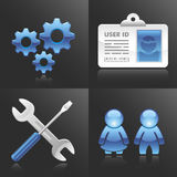 Vector Account and Config Icons Stock Photography