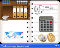 Vector accounting background Stock Photography