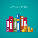 Vector accounting concept in flat style Stock Images