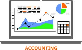 Vector - accounting Royalty Free Stock Images