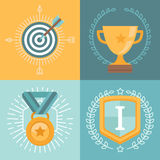 Vector achievement badges Stock Photo