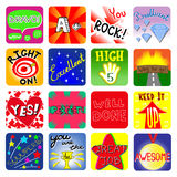 Vector Achievement school Labels. Set of 16 vector stickers Stock Photography