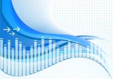 Vector achtergrond in blauwe kleur Royalty-vrije Stock Afbeeldingen