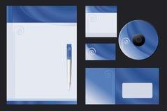 Vector achtergrond - Blauwe Spiraal Stock Afbeelding