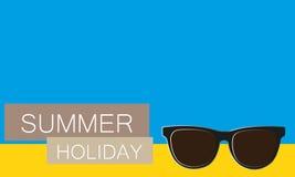 Vector achtergrond de zomervakantie Stock Afbeeldingen
