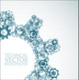 Vector achtergrond die van tandraderen wordt gemaakt Stock Afbeeldingen
