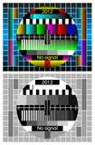 vector achtergrond - het TVscherm van de Test   Stock Afbeeldingen