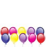 Vector achtergrond met ballons vector illustratie