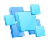 Vector achtergrond met blauwe 3D panelen Stock Afbeeldingen