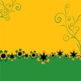 Vector achtergrond, met bloem Stock Foto's