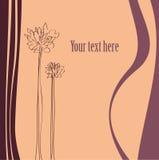 Vector achtergrond met bloemen vector illustratie