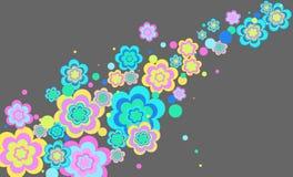Vector achtergrond met bloemen Stock Afbeelding