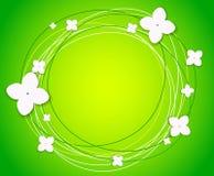 Vector achtergrond met bloemen Stock Fotografie