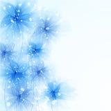 Vector achtergrond met bloemen Royalty-vrije Stock Foto