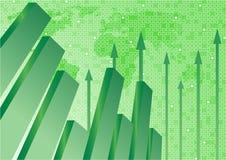 Vector achtergrond met diagram in groene kleur Royalty-vrije Stock Afbeeldingen