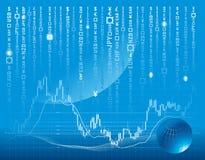 Vector achtergrond met forex grafiek Royalty-vrije Stock Fotografie