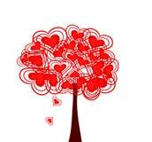 Vector achtergrond met harten stock illustratie