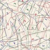 Vector achtergrond met het naaien van patronen Royalty-vrije Stock Afbeelding