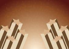 Vector achtergrond met ster in chocoladekleur Stock Afbeelding