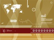 Vector achtergrond met technologie Stock Afbeelding