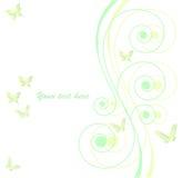 Vector achtergrond met vlinder royalty-vrije illustratie