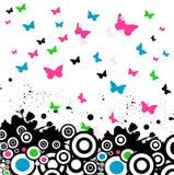 Vector achtergrond met vlinder Royalty-vrije Stock Afbeelding