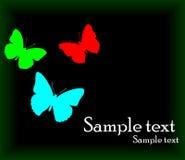 Vector achtergrond met vlinder Royalty-vrije Stock Fotografie