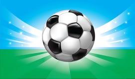 Vector achtergrond met voetbalbal Stock Fotografie