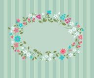 Bloemen groetkaart. Royalty-vrije Stock Afbeeldingen