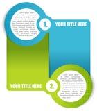 Vector achtergrond in twee stappen voor brochure of website Stock Afbeelding