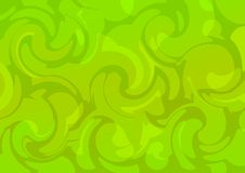 Vector acid. Green curves. Abstract background Royalty Free Stock Image