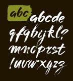 Vector Acryl Getrokken het Alfabetdoopvont van de Borstelstijl Hand ABC voor uw ontwerp, borstel het van letters voorzien Royalty-vrije Stock Afbeeldingen