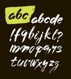 Vector Acryl Getrokken het Alfabetdoopvont van de Borstelstijl Hand ABC voor uw ontwerp, borstel het van letters voorzien Royalty-vrije Stock Foto's