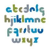 Vector acrylic font, handwritten watercolor script Стоковые Изображения RF