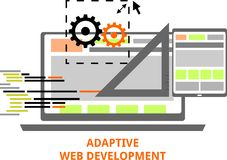 Vector - adaptive web development Stock Photo