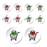 vector add delete shopping cart item Royalty Free Stock Image