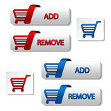 vector add delete shopping cart item Stock Photography