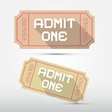 Vector Admit One Ticket Illustration Stock Image