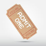 Vector Admit One Ticket Illustration Royalty Free Stock Image