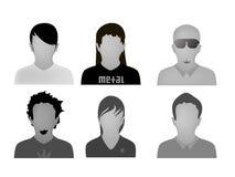 Vector adolescente de los avatares del Web de los estilos Imágenes de archivo libres de regalías
