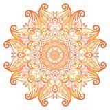 Vector adornado de la alheña de las flores Mandala en estilo indio Fotos de archivo libres de regalías