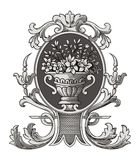 Vector adornado del florero libre illustration