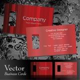 Vector adreskaartje Royalty-vrije Stock Afbeelding