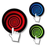 vector advertisement dartboards Stock Images